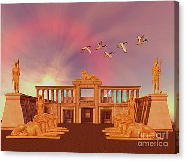 Egyptian Kingdom Canvas Print by Corey Ford