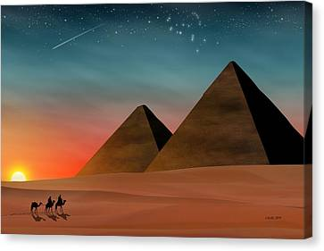 Egyptian Pyramids Canvas Print by John Wills