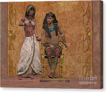 Egyptian Queen Advises Pharaoh Canvas Print