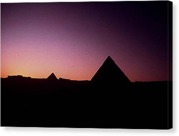 Canvas Print featuring the photograph Egyptian Sunset by Gary Wonning
