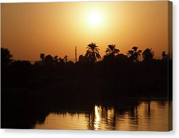 Canvas Print featuring the photograph Egyptian Sunset by Silvia Bruno
