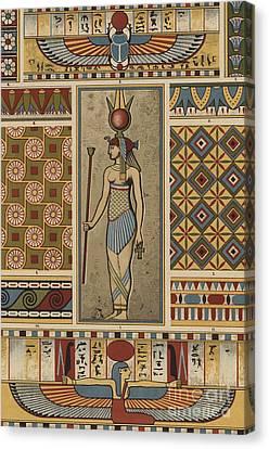 Egyptian Textile Patterns Canvas Print