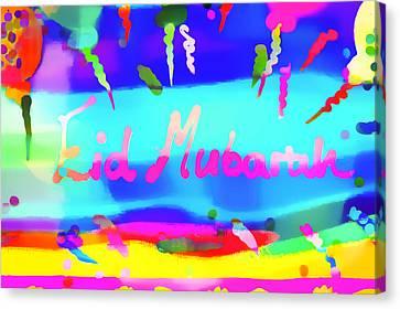 Eid Moubarak Canvas Print by Tom Gowanlock