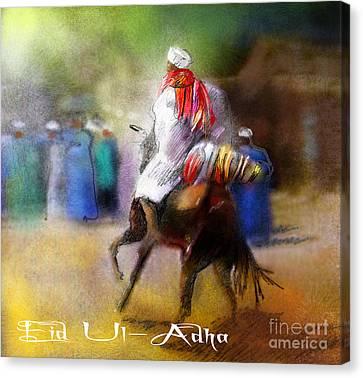 Eid Ul Adha Festivities Canvas Print by Miki De Goodaboom