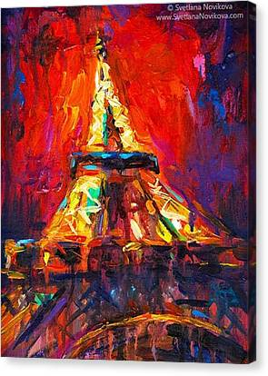Impressionism Canvas Print - Eifell Tower By Svetlana Novikova ( All by Svetlana Novikova