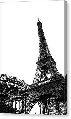 Eiffel Carousel Canvas Print
