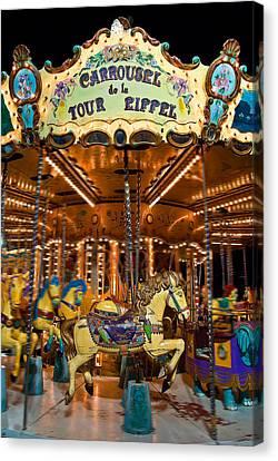 Eiffel Carrousel Canvas Print by Harry Spitz