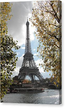 Canvas Print featuring the photograph Eiffel From Avenue De New York by Christopher Kirby
