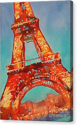 Eiffel Night- Paris Canvas Print by Ryan Fox