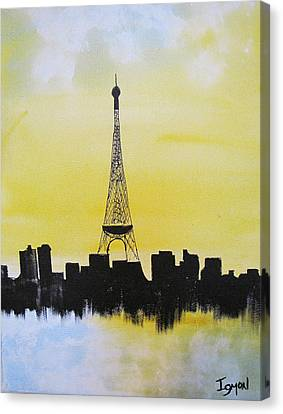 Canvas Print featuring the painting Eiffel Of Paris by Gary Smith