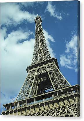 Canvas Print featuring the photograph Eiffel Tower by Allen Sheffield
