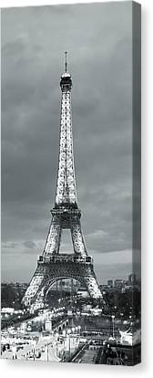 Eiffel Tower And Christmas Market Canvas Print