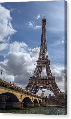 Trocadero Canvas Print - Eiffel Tower And Pont D'lena by Joan Carroll