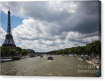 Eiffel Tower And The Siene Canvas Print