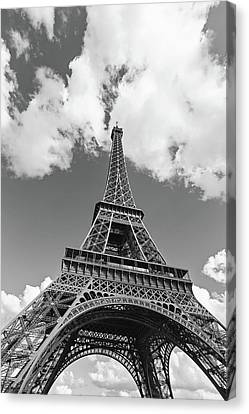 Eiffel Tower - Black And White Canvas Print