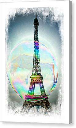 Eiffel Tower Bubble Canvas Print