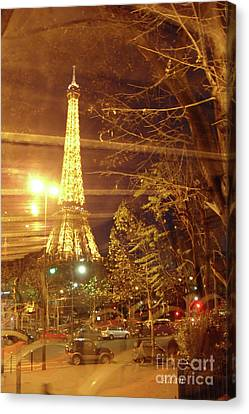 Eiffel Tower By Bus Tour Canvas Print
