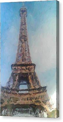 Eiffel Tower By Comtempory Artist  Canvas Print