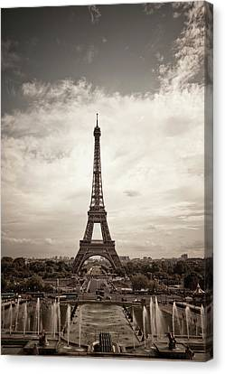 Eiffel Tower Canvas Print by Ei Katsumata