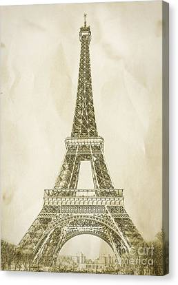 Eiffel Tower Illustration Canvas Print by Paul Topp