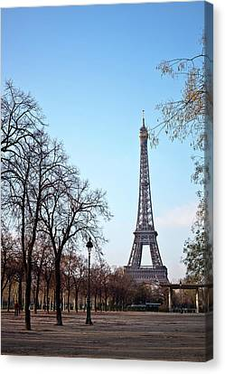 French Culture Canvas Print - Eiffel Tower In Paris by Tuan Tran