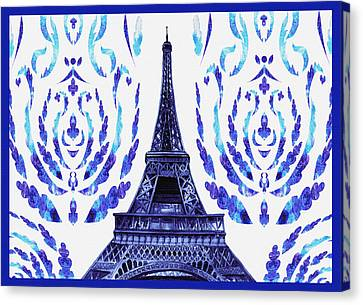 Eiffel Tower Laces II Canvas Print
