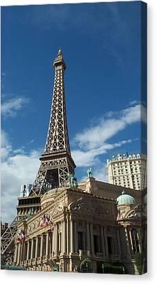 Eiffel Tower Las Vegas Nevada Canvas Print by Alan Espasandin