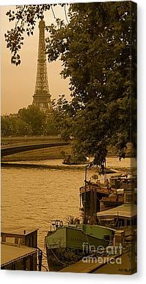 Eiffel Tower Canvas Print by Louise Fahy