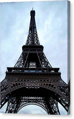 Canvas Print featuring the photograph Eiffel Tower by Nancy Bradley
