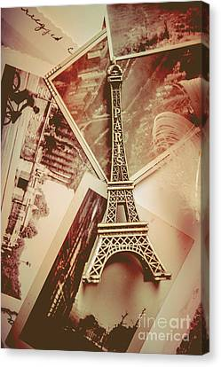 Eiffel Tower Old Romantic Stories In Ancient Paris Canvas Print