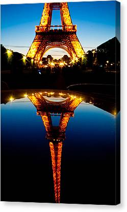 Eiffel Tower Reflection Canvas Print