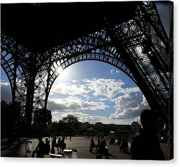 Eiffel Tower Sky Canvas Print by Rosie Brown