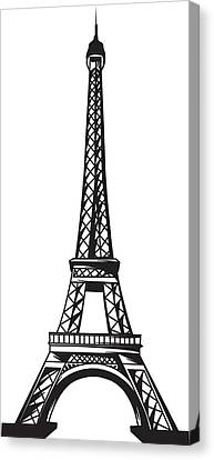 Eiffel Tower Up Canvas Print by Stanley Mathis