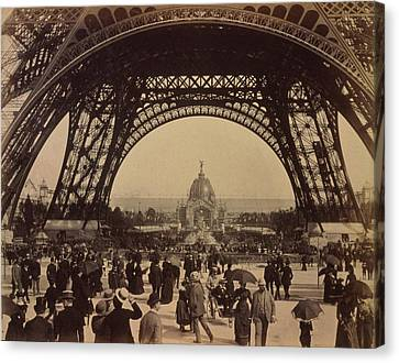 Eiffel Tower, View Toward The Central Canvas Print by Everett