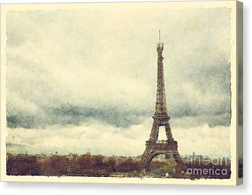 Eiffel Tower Watercolour Canvas Print