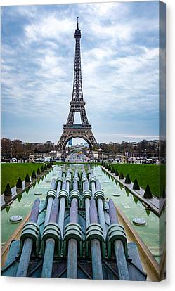 Eiffeltower From Trocadero Garden Canvas Print