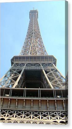 Canvas Print featuring the digital art Eiffil Tower Paris France  by Linda Shackelford