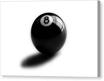 Eight Ball Canvas Print by Mark Wagoner