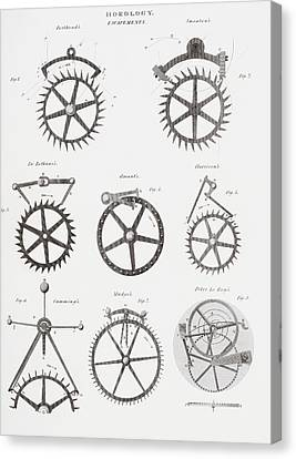 Eight Different Escapement Systems By Canvas Print