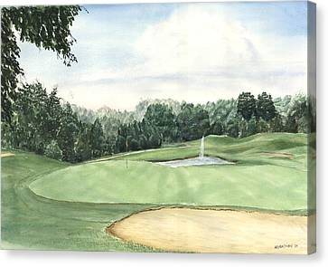 Eight Green The Trails Golf Course Canvas Print by Lane Owen