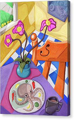 Eight Leg Dinner Canvas Print by David Kyte