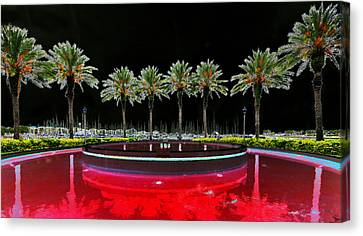 Eight Palms Drinking Wine Canvas Print by David Lee Thompson