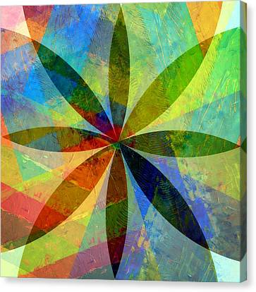 Canvas Print featuring the painting Eight Petals by Michelle Calkins