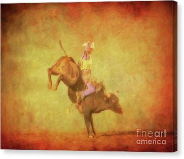 Eight Seconds Rodeo Bull Riding Canvas Print