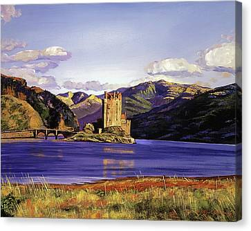 Eilean Donan Castle Canvas Print by David Lloyd Glover