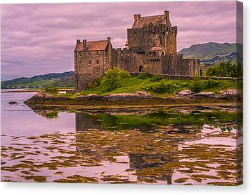 Canvas Print featuring the photograph Eilean Donan Castle I by Steven Ainsworth