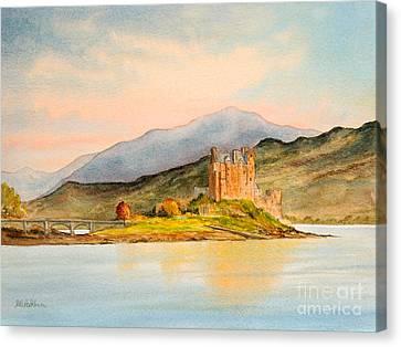 Ruins Canvas Print - Eilean Donan Castle Scotland by Bill Holkham