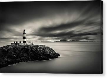 Eilean Glas Lighthouse Canvas Print by Dave Bowman