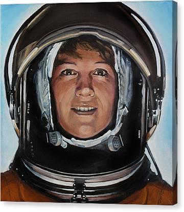 Eileen Collins Canvas Print by Simon Kregar
