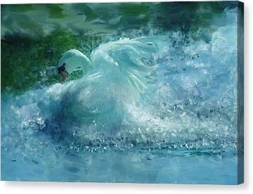 Ein Schwan - The Swan Canvas Print by Georgiana Romanovna